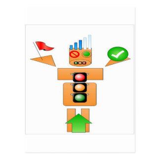 Getränk-und Antriebs-Internet Traffice Postkarte