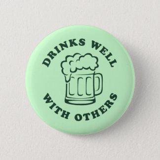 Getränke gut mit anderen runder button 5,7 cm
