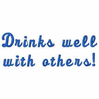 Getränke gut mit anderen! Spaß gesticktes Shirt Polo Shirt