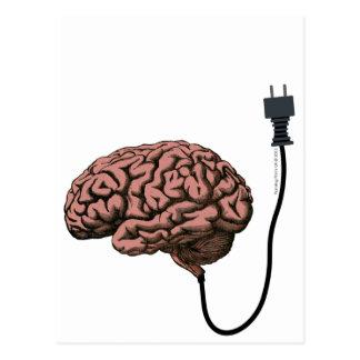 Getrennte Gehirn Steampunk Neugier-Anatomie Postkarte