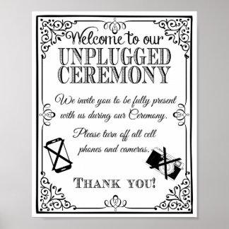 Getrennte wedding Vintage Tafel der Hochzeit Poster