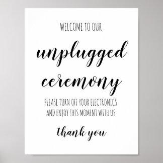 Getrenntes Zeremonie-einfaches handgeschriebenes Poster