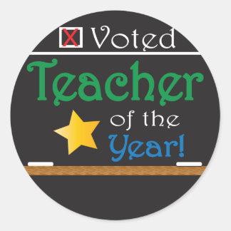 Gewählter Lehrer des Jahres Runder Aufkleber