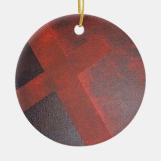 Gewaschen im Blut Rundes Keramik Ornament