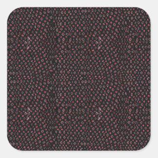 Gewebe-Beschaffenheits-Schablone addieren Quadratischer Aufkleber