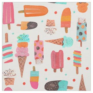 Gewebe des Eiscreme-Spaß-| des Sommer-| Stoff