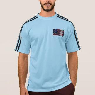 Gewebe-Effekt US-Flagge T-Shirt