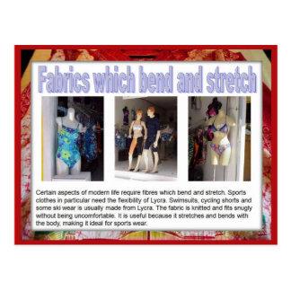 Gewebe, Mode, Gewebe, die verbiegen und ausdehnen Postkarte