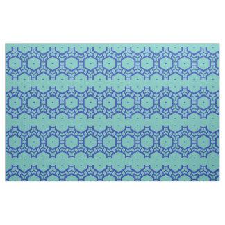 Gewebe - Reihen von Hexagonen im Blau Stoff
