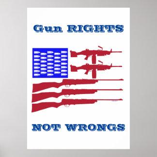 Gewehr-Recht-und Unrecht-archivalischer Druck Poster