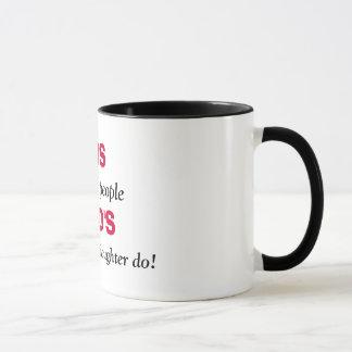 GEWEHRE, töten nicht Leute, VATI, mit hübschem DA… Tasse