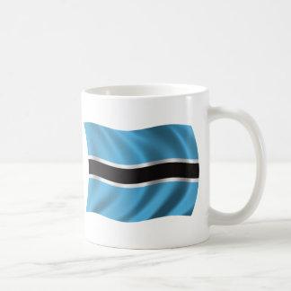 Gewellte Botswana-Flagge Kaffeetasse