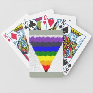 Gewellter Block-Faser-Regenbogen-Dreieck-Trichter Bicycle Spielkarten