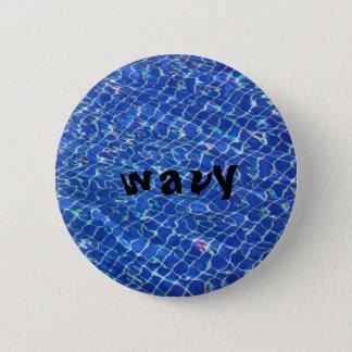 gewellter Knopf 2in Runder Button 5,7 Cm