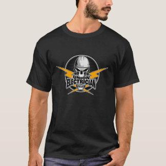Gewerkschafts-Elektriker: Schädel und Thunderbolts T-Shirt
