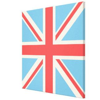 Gewerkschafts-Flagge/Jack-Entwurfs-Creme, hellblau Gespannte Galeriedrucke