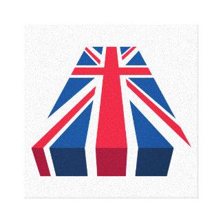 Gewerkschafts-Jack, britische Flagge in 3D Galerie Falt Leinwand