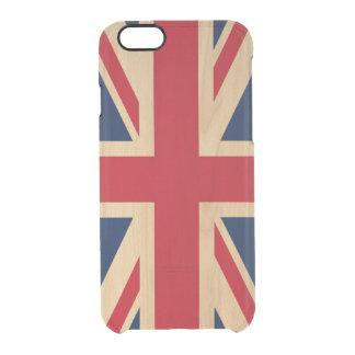 Gewerkschafts-Jack-britische nationale Flagge Durchsichtige iPhone 6/6S Hülle