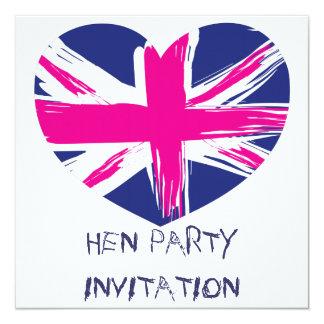 Gewerkschafts-Jack-Flaggen-Henne-Party Einladung