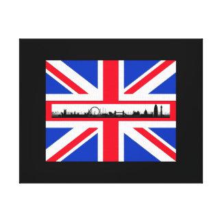 Gewerkschafts-Jack-Flaggen-Londonskyline-Leinwand Leinwanddruck