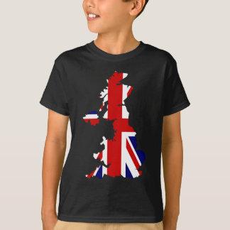 Gewerkschafts-Jack-Großbritannien-Karte T-Shirt