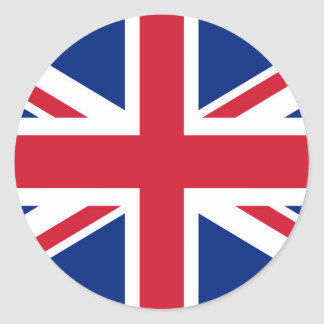Gewerkschafts-Jackflagge Großbritanniens - Runder Aufkleber