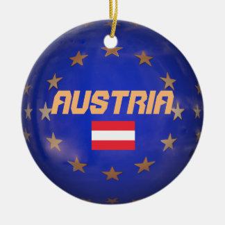 Gewerkschafts-Keramik-Verzierung Österreichs Rundes Keramik Ornament