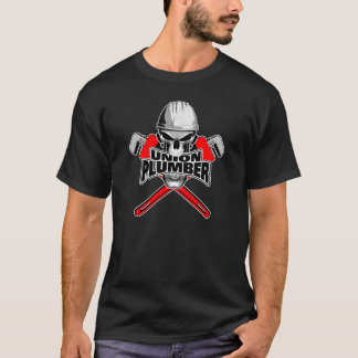 Gewerkschafts-Klempner: Schädel-und Rohr-Schlüssel T-Shirt