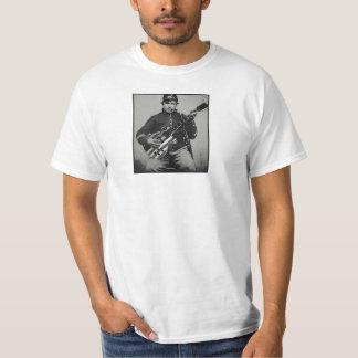 Gewerkschafts-Soldat mit modernem Gitarren-Wert-T T-Shirt