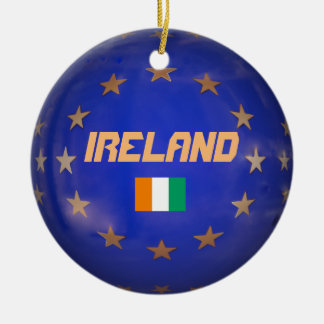Gewerkschafts-Weihnachtsverzierung Irlands Rundes Keramik Ornament