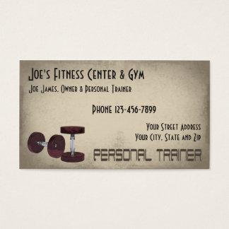 Gewichts-Anhebenpersönliche Trainer-Visitenkarte Visitenkarte