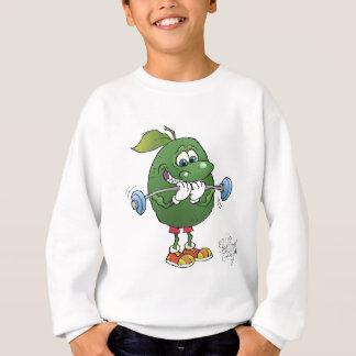 Gewichtsanheben Avocado, auf einem süßen Hemd Sweatshirt
