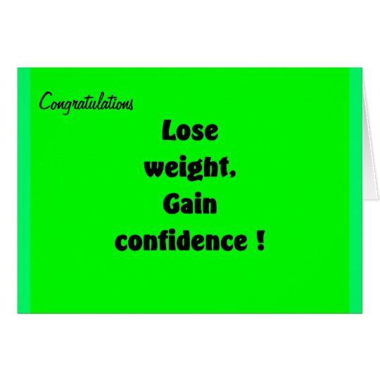 Gewichtsverlust-Glückwunsch-Grußkarten Grußkarte