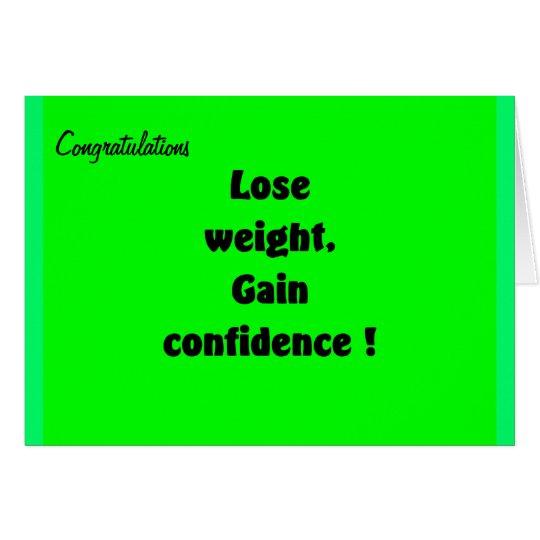 Gewichtsverlust-Glückwunsch-Grußkarten Karte