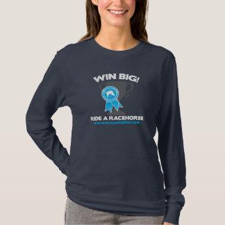 Gewinn-große Fahrt ein Rennpferd T-Shirt