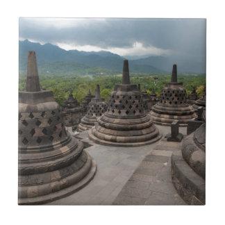 Gewitter über Borobudur Fliese