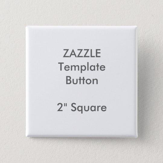 """Gewohnheit 2"""" quadratische quadratischer button 5,1 cm"""
