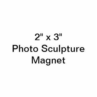 "Gewohnheit 2"" x 3"" Foto-Skulptur-Magnet Fotoskulptur Magnet"