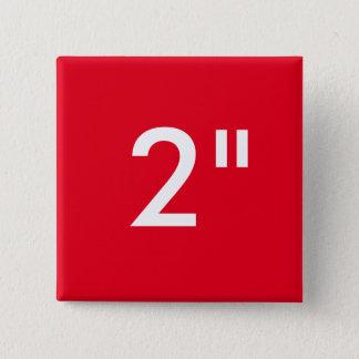 """Gewohnheit 2"""" Zoll-quadratische Quadratischer Button 5,1 Cm"""
