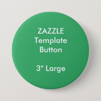 """Gewohnheit 3"""" große runde Knopf-Raum-Schablone Runder Button 7,6 Cm"""