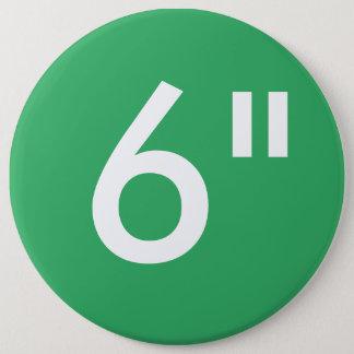 """Gewohnheit 6"""" kolossale runde Knopf-Raum-Schablone Runder Button 15,3 Cm"""