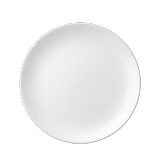 "Gewohnheit 8,5"" dekorative Porzellan-Platte Porzellanteller"