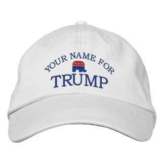 Gewohnheit addieren Namen oder Staat, um Donald Bestickte Mütze