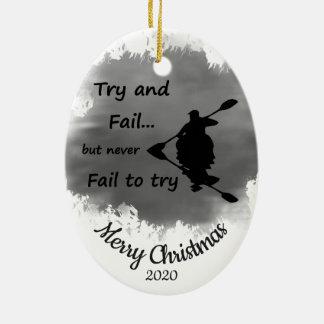 Gewohnheit datiertes Weihnachten versagen nie, um Keramik Ornament