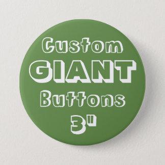 """Gewohnheit Druck-RIESE 3"""" Knopf-Button GRÜN Runder Button 7,6 Cm"""