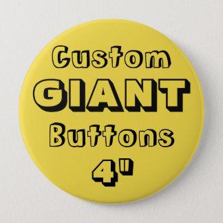 """Gewohnheit Druck-RIESE 4"""" Knopf-Button GELB Runder Button 10,2 Cm"""