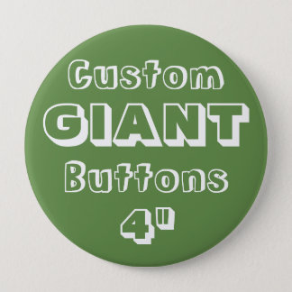 """Gewohnheit Druck-RIESE 4"""" Knopf-Button GRÜN Runder Button 10,2 Cm"""