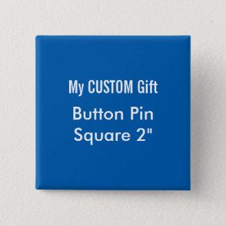 """Gewohnheit druckte 2"""" quadratisches quadratischer button 5,1 cm"""
