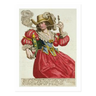 Gewohnheit einer wohlhabenden Dame über 1630 Postkarte