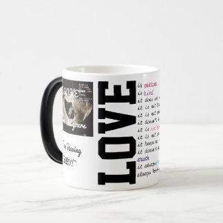 Gewohnheit fertigen weiße Tasse des Kaffee-11oz Verwandlungstasse